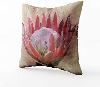 Musesh Christams Protea Cushions Case Throw Pillow Cover for Sofa Home Decorative Pillowslip Gift Ideas Household Pillowcase Zippered Pillow Covers 20X20Inch