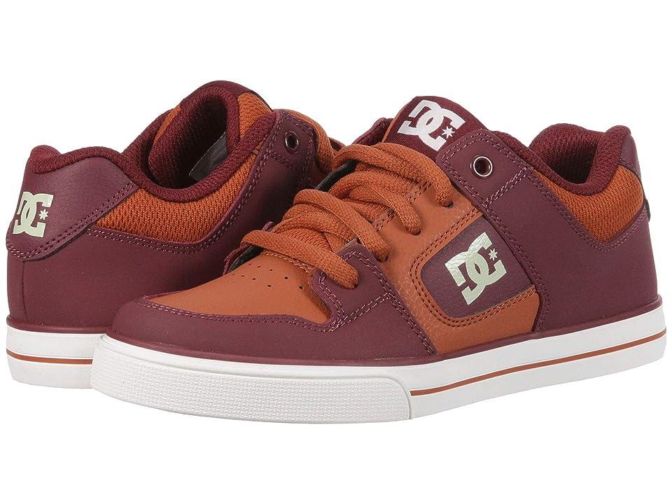 DC Kids Pure (Little Kid/Big Kid) (Burgundy/Tan) Boys Shoes