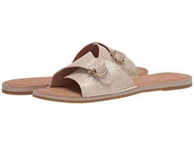 Sperry Seaport Metallic Leather Slide Sandal (Platinum) Women