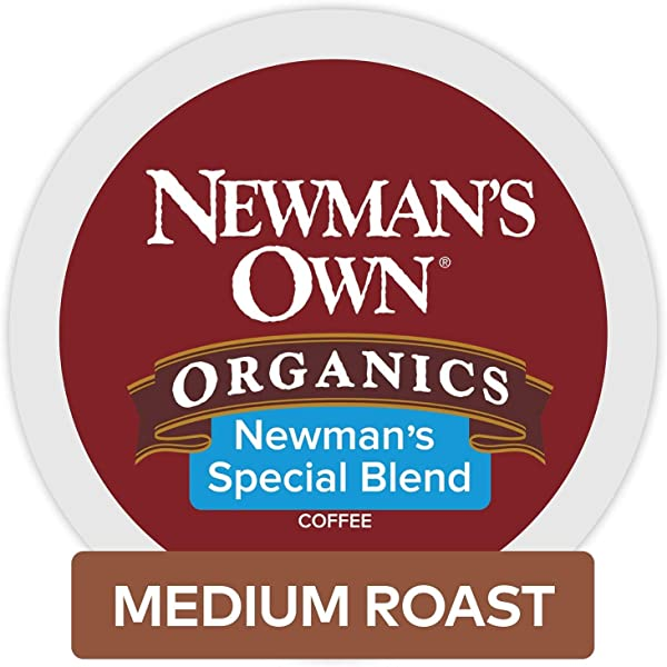 Newman S Own Organics Keurig Single Serve K Cup Pods Special Blend Medium Roast Fair Trade And USDA Organic Certified Coffee 96 Count