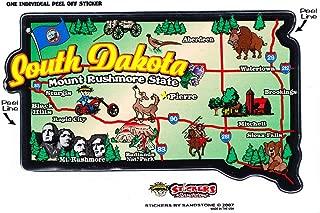 Flagline South Dakota - State Map Outline Vinyl Sticker