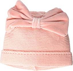 Velvet Knitted Bow Hat (Infant)
