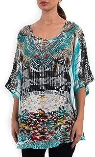 Inoa Pure Silk Short Loose Summer casual Kaftan Top for Women