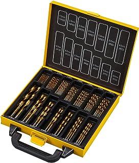 Juego de brocas helicópicas HSS 99 unidades TEENO, para taladrar en metal y acero inoxidable