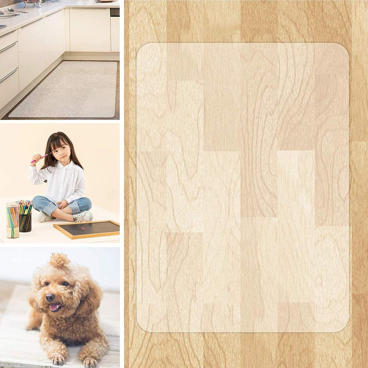 Mesa Mall Rectangle PVC Selling and selling Hard Floor Mat Protection Mats Non Chair Slip