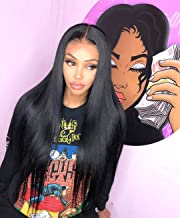 Best straight middle part lace wig Reviews