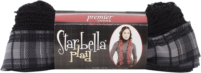 Premier Yarns Polyester-Mischgewebe Starbella Plaid Yarn-Sterling B00HFFH44S | Hohe Qualität und Wirtschaftlichkeit