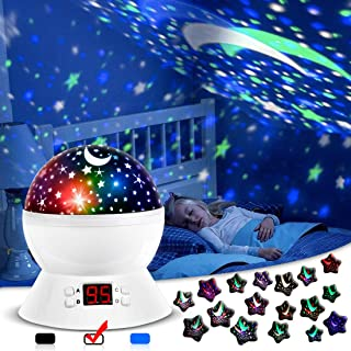 ANTEQI Star Projector Night Light for Kids Bedroom Decor with Timer, 3 Types Table Lamp..