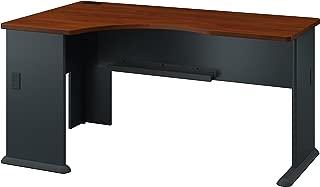 Bush Business Furniture Series A Left Corner Desk in Hansen Cherry and Galaxy