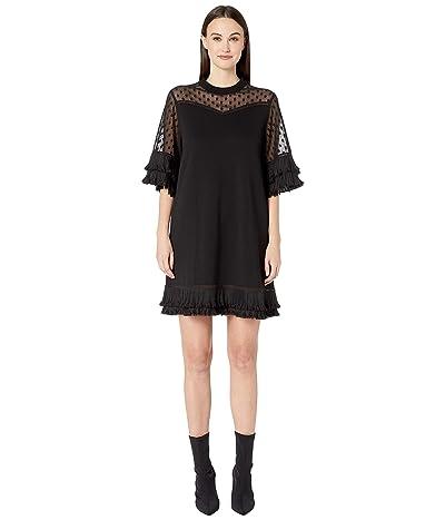 McQ Volume Ruffle Dress (Darkest Black) Women