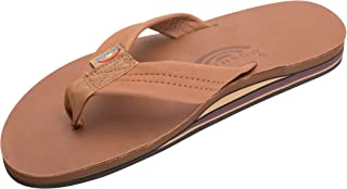 Men's Premier Leather Double Layer with Arch Wide Strap, Classic Tan/Brown, Men's Small / 7.5-8.5 D(M) US