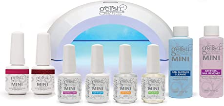 Gelish Mini Gel LED Light Soak Off Remover and Nail Polish Full Package Kit Set