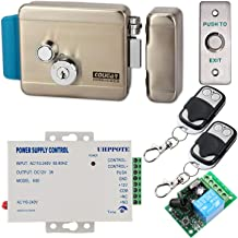 UHPPOTE Electric Gate Lock with Wireless Remote Control for Intercom Access Control System