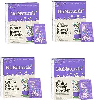 NuNaturals Nustevia White Stevia Powder, 100 Count (4-Pack)