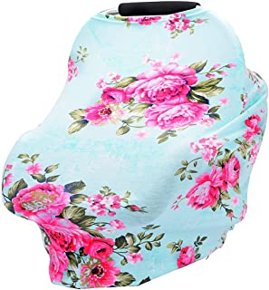 Baby Car Seat Cover Breastfeeding Cover Carseat Covers for Girls and Boys (Green)