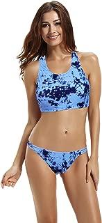 Women's High Neck Crochet Racerback Bikini Bathing Suit