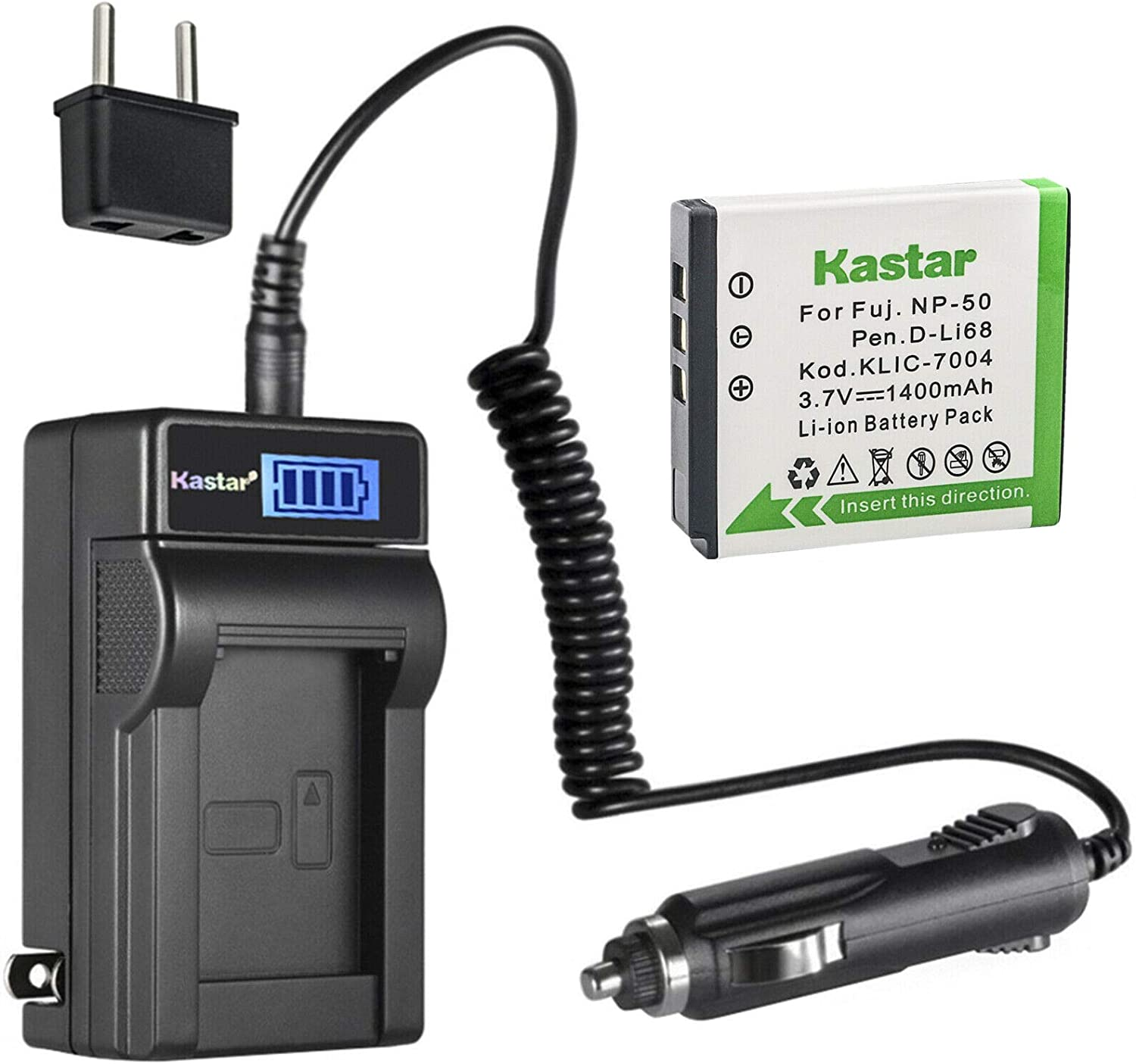 Kastar 1-Pack KLIC-7004 Battery and Bombing new work Compatible AC wi Charger LCD Finally popular brand