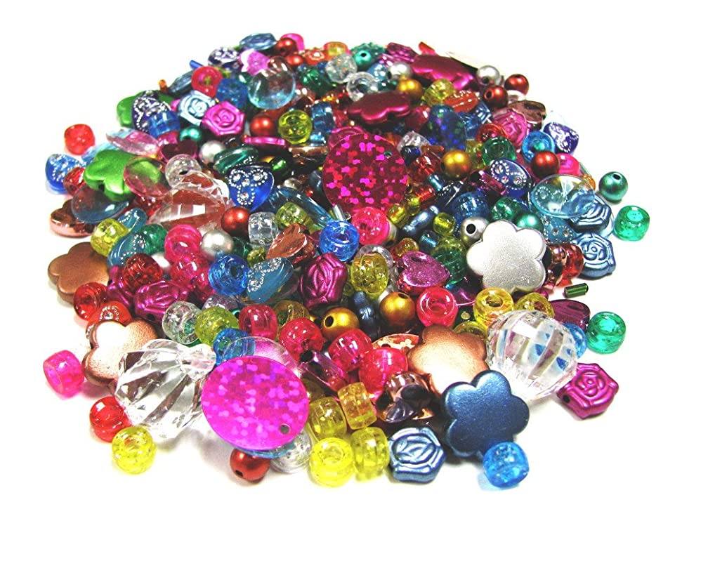 Linpeng Acrylic Beads 2-Ounce Bag, 4x17.5mm, Assorted Color, Mix Beads, Content May Vary