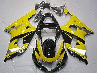 ZXMOTO Yellow & Black Painted With Graphic Fairing Kit for Suzuki GSXR 600 750 K1 (2001-2003)
