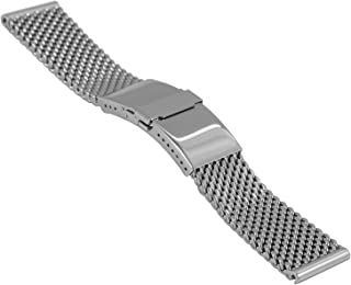 milanaise/mesh Watch Strap Deluxe, Diver Buckle, Length Adjustment, W 22 x 20 mm, H 4.9 mm, 2785-22