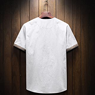 ♛Linen Cotton Clothing From Chamery♛ - Mens Linen Shirts/Clearance Sale/Casual Wild Tops Blouse Tees