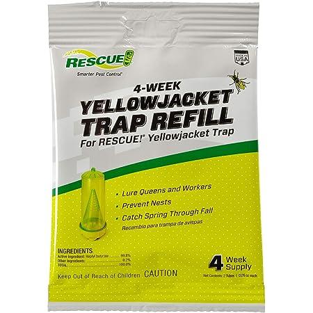 RESCUE! Yellowjacket Attractant Reusable Yellowjacket Traps – 4 Week Supply