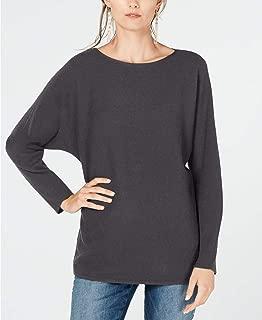 INC International Concepts Dolman-Sleeve Ribbed-Knit Sweater, Medium Heather Grey, XL