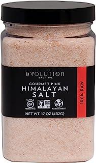 Evolution Salt Co. Gourmet Pink Himalyayan Salt, Fine, 17 oz