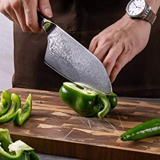 MISDD Couteau Couperet 7.2 Pouces Japonais Damas Couteaux de Cuisine en Acier 67 Layers Butcher Outils Japonais Damas Cout...