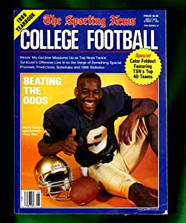 The Sporting News College Football 1989 Yearbook / Tony Rice (Notre Dame) cover