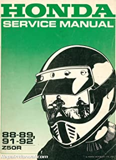 U61GW803 Used 1988-1994 Honda Z50R Shop Manual
