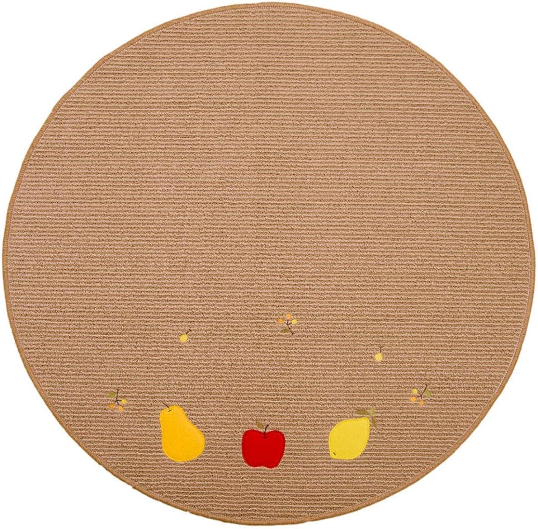 Royare Home Decorations mat Fruit Carpet No Lint, Non-Slip, Washable Computer, Cushion, Yoga Mat (Size   80 cm)