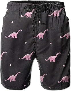 Pantalones Cortos de Playa de Verano de Dinosaurio Lindo para Hombre Pantalones de baño de Secado rápido de Ocio