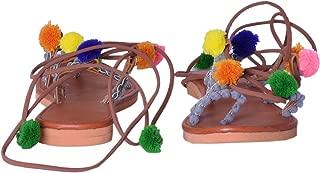 AADITYA EXPORTS Tradinitional and Ethnic Jaipuri Handmade Sandal Pompom Style Sandle for Women and Girls