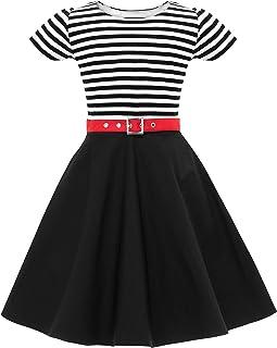 8d8ece9360cd0 BlackButterfly Enfants Robe Années 50 Vintage Rayé  Maria