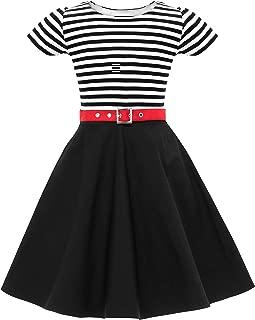 Kids 'Maria' Vintage Striped Pin Up Dress