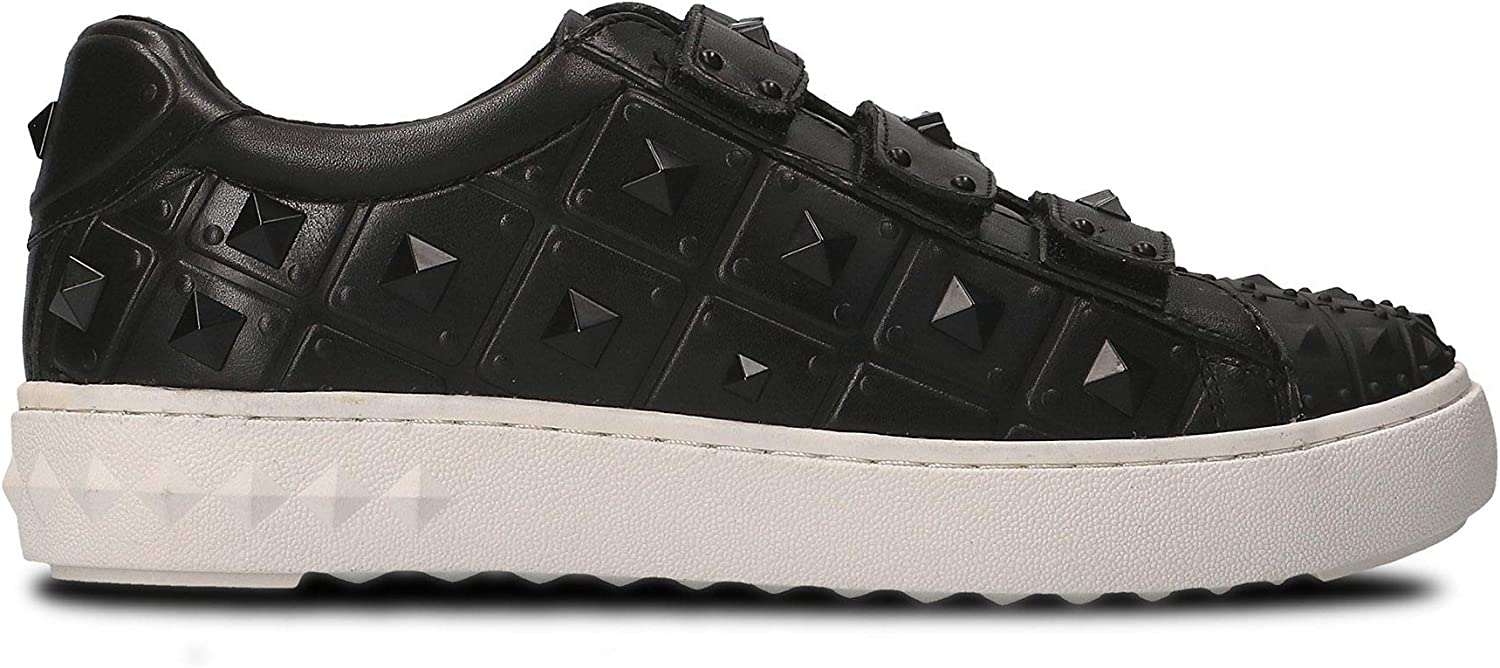 Ash Women's PEACE02CALFBLK Black Leather Sneakers
