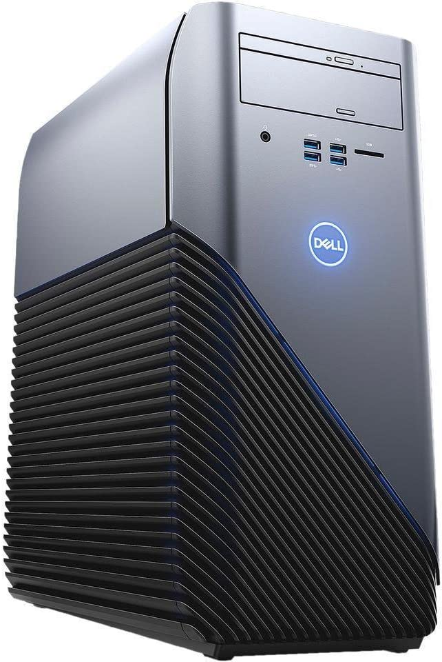 2018 Dell Inspiron 5675 Gaming Desktop, AMD Ryzen 7 1700X Up to 3.8GHz 16GB DDR4 256GB SSD+1 TB HDD DVDRW 4GB AMD Radeon RX 570 MaxxAudio 802.11ac HDMI USB Type-C Win 10 -Blue (Renewed)
