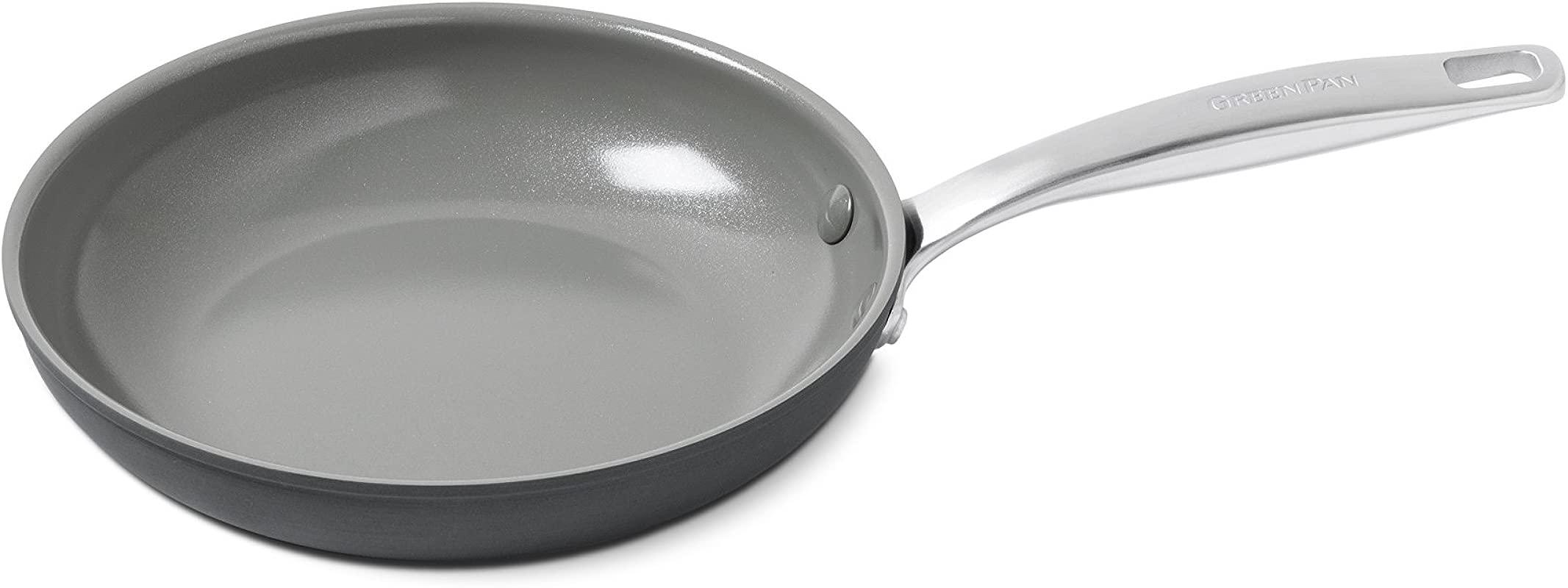 GreenPan Chatham 8 Ceramic Non Stick Open Frypan Grey