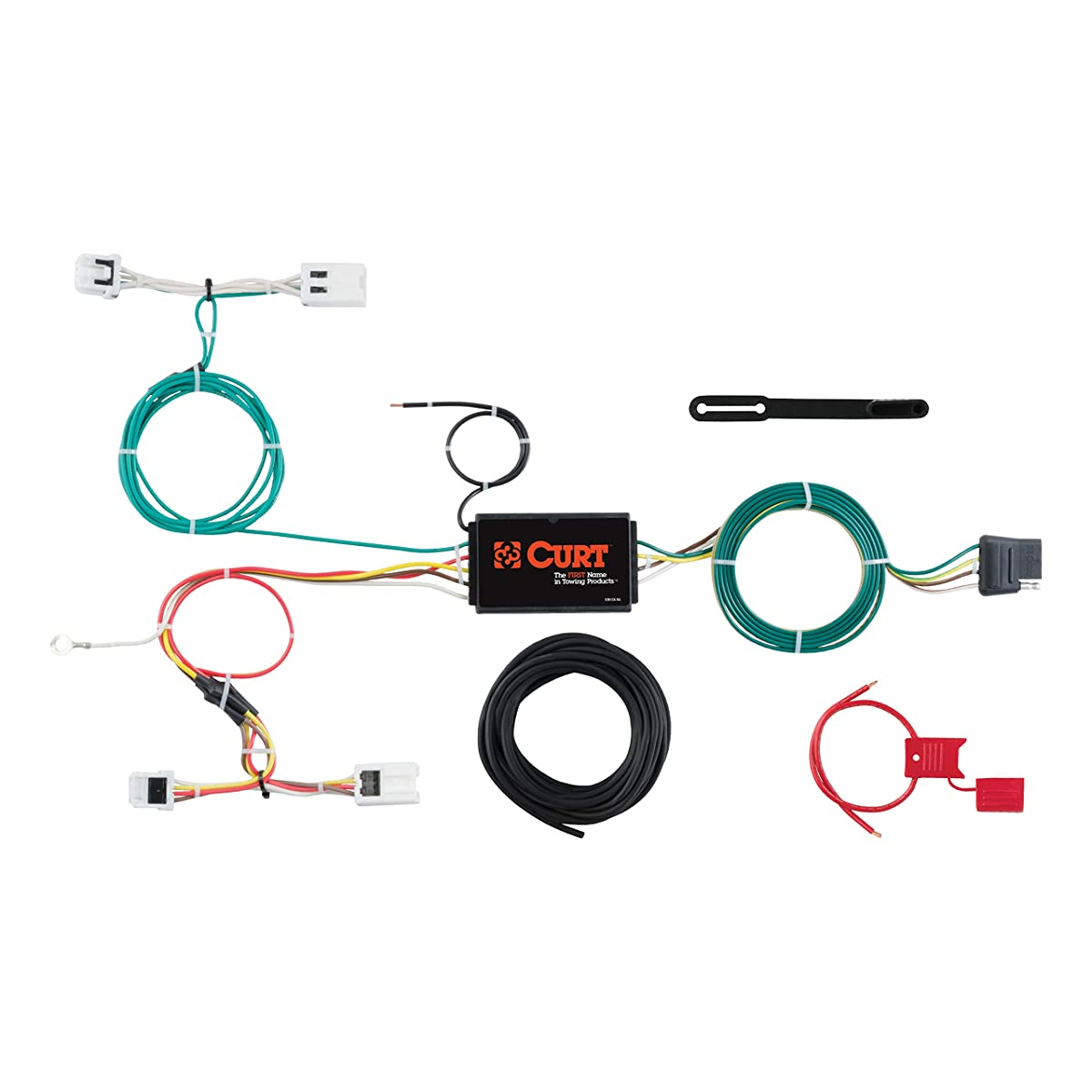 CURT 56279 Vehicle-Side Custom 4-Pin Trailer Wiring Harness for Select Chevrolet City Express, Nissan NV200