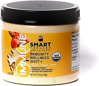 Immunity Wellness Shot | Smart Pressed Juice | Turmeric Curcumin Ginger Shot for Immunity Defense | Apple Cider Vinegar Lemon Ginger Echinacea | Detox Weight-Loss Immune MADE IN USA