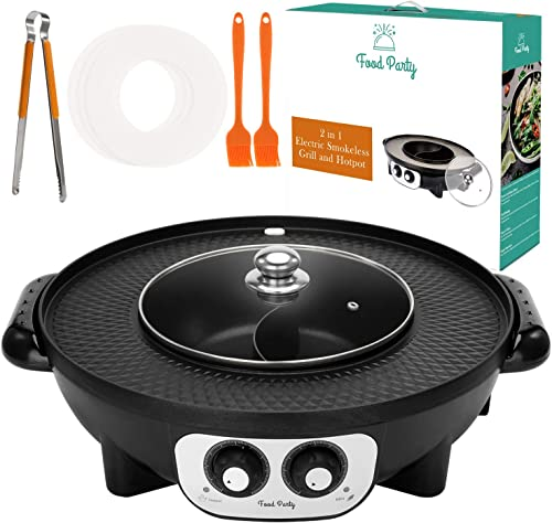 Food Party 2 in1 Electric Smokeless Grill and Hot Pot (Hot Pot)