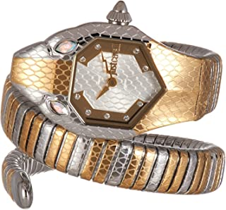 Just Cavalli Signature Snake Serpente Solo Stainless Steel Watch JC1L177M0055 - Quartz Analog for Women in Stainless Steel...
