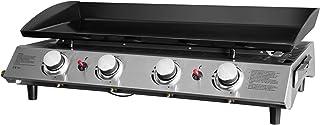 FAVEX - Plancha Bahia 4 feux Cooking Box - Surface cuisson 80 x 36 cm - 4 brûleurs ronds Inox - Plaque acier émaillée - Pi...