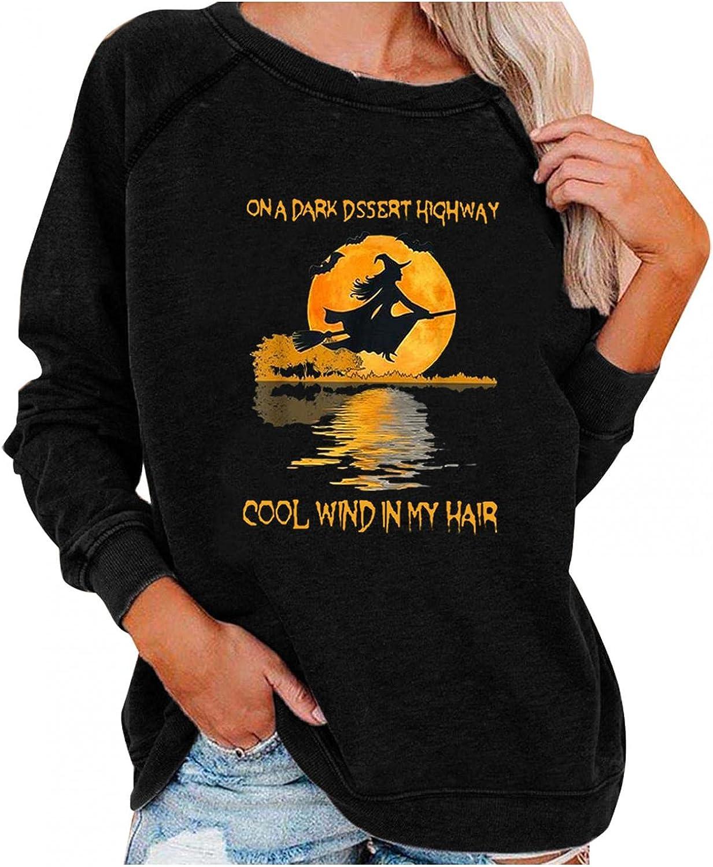 Qopobobo Womens Halloween Cheap Max 69% OFF Costume Casual Crew W Neck Sweatshirts
