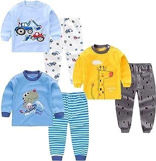 XM-Amigo Conjunto térmico para niños de Capa Base 3,Parte Superior e Inferior, Ropa Interior térmica para bebés y niños,Ro...