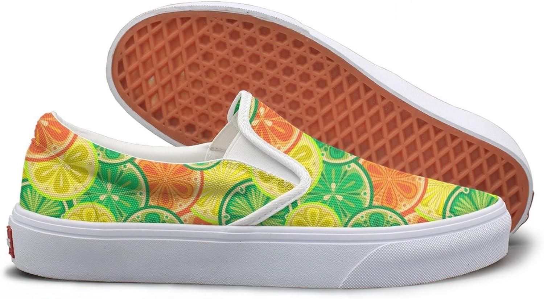 SEERTED oranges and Lemons School Sneakers for Girls