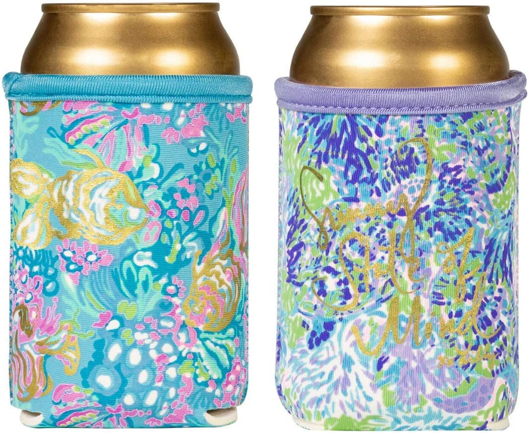 Bottle Wrap Cooler Zipper Long Necks beer Lilac Bush  purple blue green bachelorette party favor wedding shower drink hugger insulator