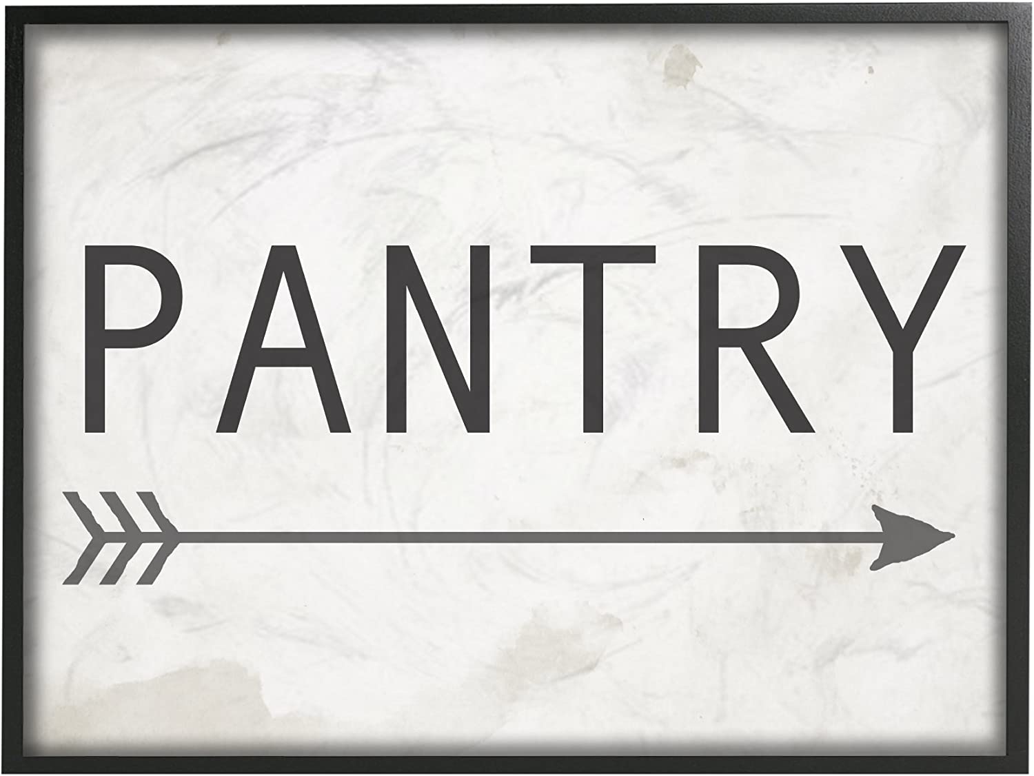 The Stupell Home Decor Collection Pantry Sign with Arrow Framed Giclee Texturized Art, 11 x 1.5 x 14, Proudly Made in USA