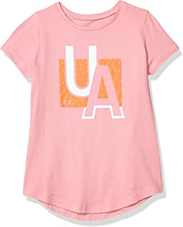 تي شيرت بأكمام قصيرة للفتيات يحمل العلامة التجارية Under Armour